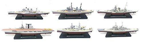Unbekannt Los mit 8 Kriegsschiffen, Darunter 1 Flugzeugträger 1/1250 US Navy-ROYAL Navy-Kriegsmarine (Ref: 04-16-22-26-28-30-32-33)