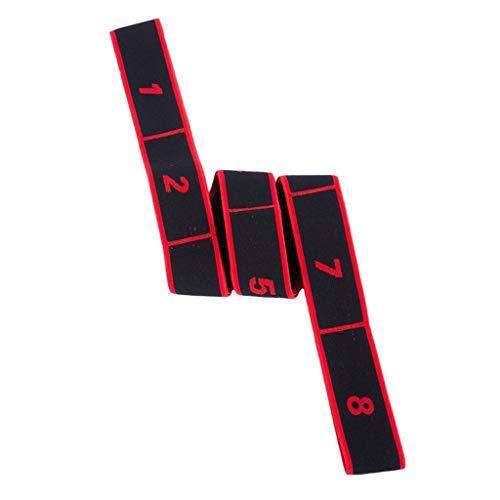 Yoga Band, TIREOW Elastizität Yoga Strecken Gurt Flexibel Schleifen Pilates Workouts, Reduzieren Sie Ihre Muskelverspannungen (Rot) -