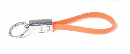 Preisvergleich Produktbild USB Schlüsselanhänger, USB Loop 2.0 Schlüsselanhänger mit robustem Metallkopf, als Datenkabel und Ladekabel, Ideal für schnelles aufladen und Datentransfer. Kein leeres Akku oder nerviges suchen in der Handtasche mehr.