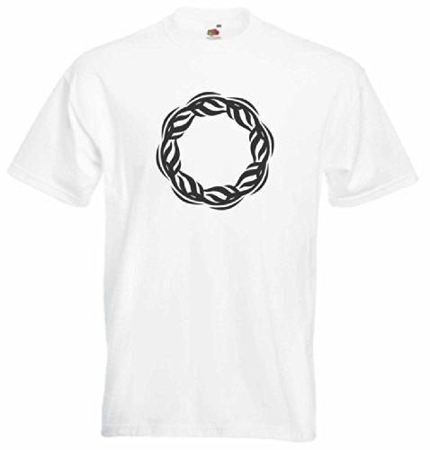 T-Shirt Herren Kratzer feuerkreis Weiß