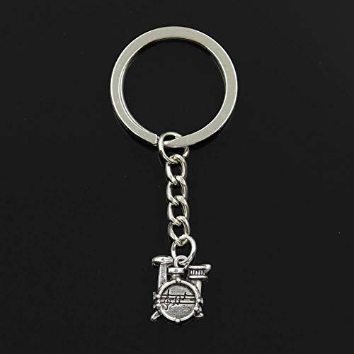 YCEOT Schlüsselbund Mode 30 Mm Schlüsselanhänger Metall Schlüsselanhänger Schlüsselbund Schmuck Antikes Silber Überzogene Trommel Set Stoppuhr 16X14X4 Mm Anhänger