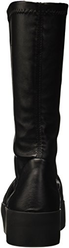 Bikkembergs Pow-Er 718 Boot W S.Leather Stretch, Baskets Hautes Femme Noir - noir