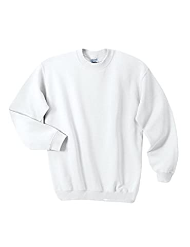 Legou Homme sweatershirt Manches Longue Collet-rond Sport blouse Blanc Large