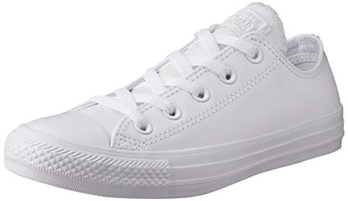 Converse Ct Mono Lea Ox, Unisex - Erwachsene Low-top Sneaker, Weiß (White), 37.5 EU