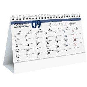 Zettler Monats-Aufstellkalender 20x15mm Karton weiß Kalendarium 2017
