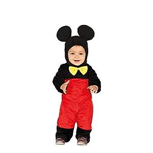 Guirca- Costume Topolino Neonato 12/24 Mesi, Colore Rosso,Nero e Giallo, 1-2 Anni, 88376 11 spesavip
