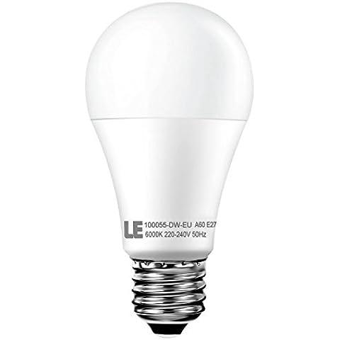 LE Bombilla LED 12W = 75W Incandescente 1050 lúmenes Blanco frío E27 A60