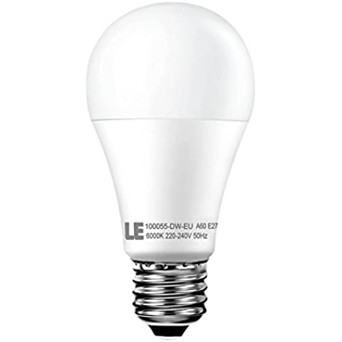 LE Lampadine a LED da 12W A60 E27, 1050lm, Bianca Diurna, 6000K
