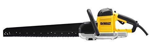 elektro baumschere DeWalt Alligator Spezial-Säge 1700W DWE397 für Hochlochziegel – Mit 430 mm Schnittlänge und Doppelsägeblatt-System für präzise Schnitte selbst in Winkeln – Inkl. HM Sägeblattersatz
