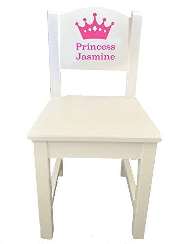 Little Secrets Kinderstuhl aus Holz, mit Prinzessinnen-Krone und personalisierbarem Namen, Geschenk