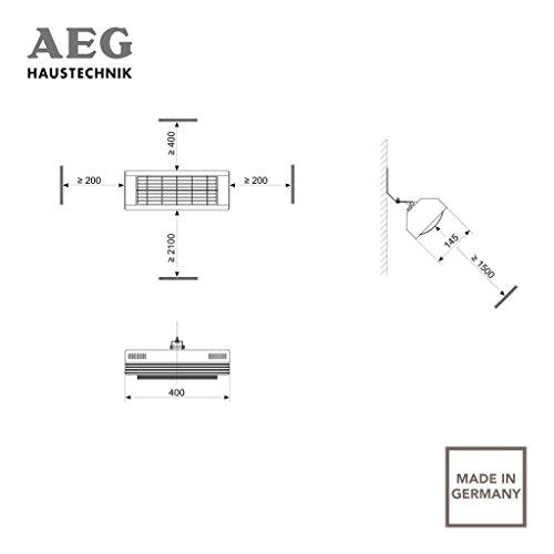 AEG Infrarot-Heizstrahler IR Comfort 2020 W, 2000 W, Goldröhre für Innenbereich, 229952 - 3
