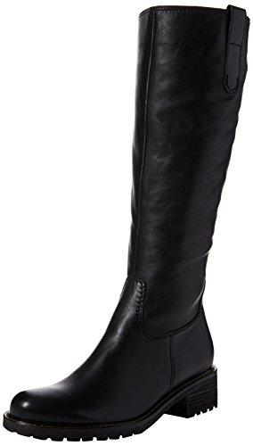 Gabor Shoes Damen Comfort Basic Stiefel, Schwarz (Mel.), 38.5 EU Leder Stiefel
