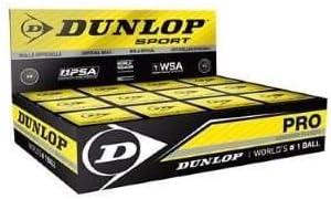 Pelota de squash Dunlop con 2puntos amarillos