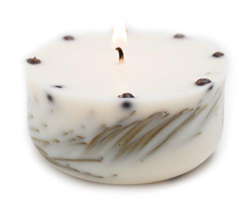 Zedernholz Bio Soja Kerze handgefertigt mit echtem Zedernholz Aromatherapie Öl in Geschenk Box Schadstoff-frei lange Brenndauer (Bio-soja-kerze)