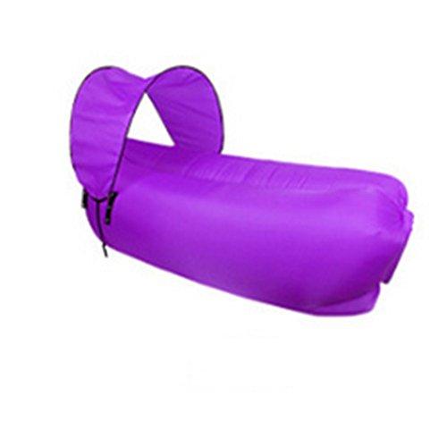 OOFAY Tragbarer Lazy aufblasbares Sofa Outdoor Indoor Air Sleep Schlafcouch Oxford Tuch Wasserdicht Sitzsack für Sommer Camping Strand Angeln, zusammenklappbar, Violett