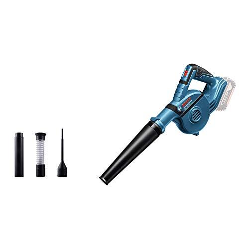 Bosch Professional Souffleur Sans-Fil GBL 18V-120 (18 V, 270 KM/H, 4 access: suceur, rallonge, suceur pour trou profond, tube de collecte des poussières, batterie et chargeur non inclus)