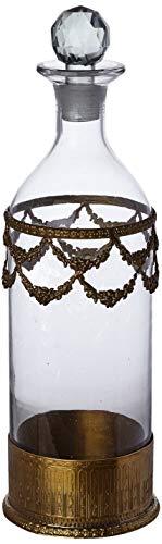 Better & Best Dekorationsflasche, Modell: 1224847, Metall und Glas, goldfarben, Einheitsgröße