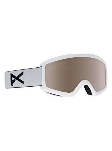 Anon Herren Helix 2.0 with Spare Snowboardbrille, White/Silver Amber, One Size