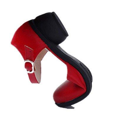 Scarpe da ballo-Non personalizzabile-Da donna-Moderno-Tacco cubano-Di pelle-Nero / Marrone / Rosso / Bianco Brown