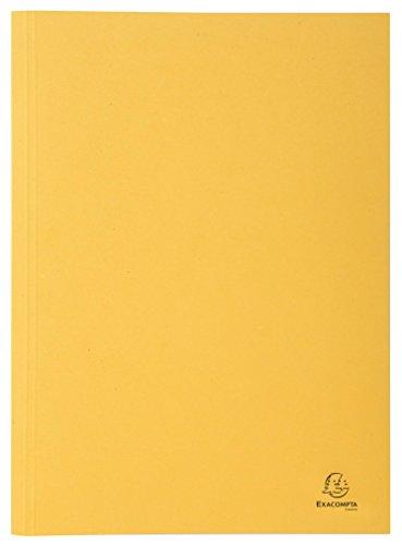 Exacompta 389004B Aktendeckel (Recycling-Karton, gerilltem Rücken, Kapazität bis 350 Blatt, 250g, DIN A4) gelb