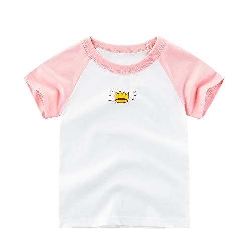 dchen Kurze Ärmel Tops Kaktus Krone Inspiration Brief Gedruckt T-Shirt Kinder Kleine Jungen Sommer Tees ()