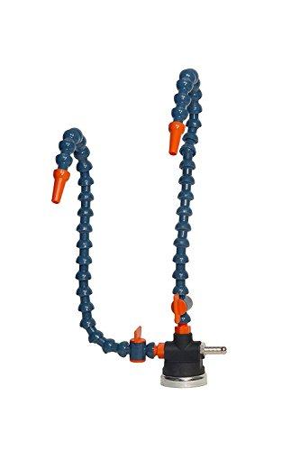 BASE MAGNETICA TUBO FLEXO COMPONIBILE SNODATO LIQUIDO REFRIGERANTE MACCHINE UTENSILI SET 2 FLESSIBILI TUBOFLEX 227.99