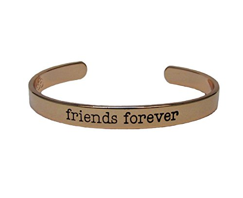 Amigos para siempre rosa dorado brazalete joyería mejores amigos Bff regalo