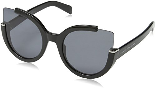 Marc by Marc Jacobs - MMJ 477/S, Cat eye, INIETTATO/PROPRIONATO, donna, SHINY BLACK/GREY(D28/E5),57/22/140