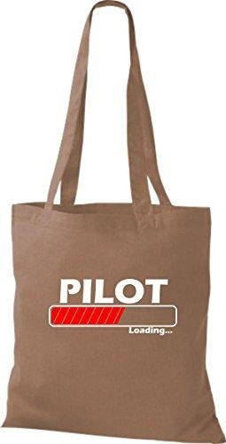 Jute Farben Loading Pilot hellbraun viele Stoffbeutel qqTf4w1
