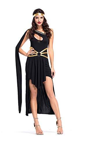 Lovelegis (Schwarz) One Size - Sexy römische griechische Göttin Kostüm - Verkleidung Karneval Halloween Cosplay Zubehör - Frau ()