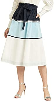 Iconic Women's 2091183 SS24CLRBLKSK Asymmetric Woven Skirt,