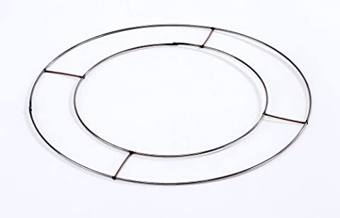 60 x Flat Wire Rings 10
