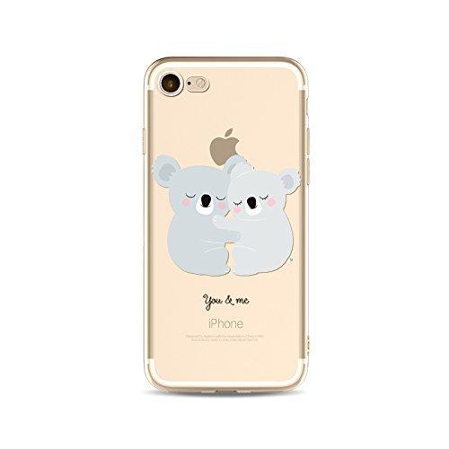 Coque iPhone 6 Plus 6s Plus Housse étui-Case Transparent Liquid Crystal en TPU Silicone Clair,Protection Ultra Mince Premium,Coque Prime pour iPhone 6 Plus 6s Plus-Koala-style 3 20