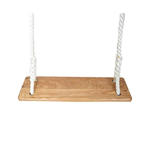 Klappschaukel Erwachsene Polyester-Seil-Schwingen-hölzerne hängende Schwingensitz-geglättete Ecken-Sicherheits-Schaukel der Kinder im Freien Einstellbare Schaukel (Größe : D)