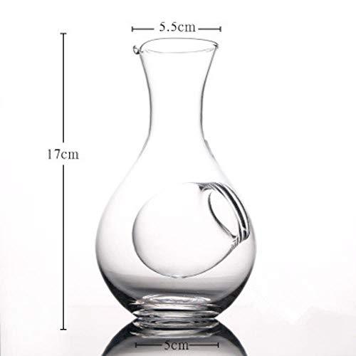 FeiKe Kreative Japanischen Stil Glas Weinflasche Daumenloch Sake Glas Eiskanne Hamsternest Kühlraum Weinausgießer Dekanter Set, einzelne Flasche