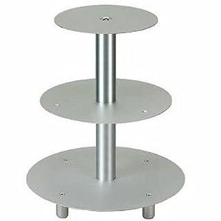 Tortenständer 3-Etagen, Hochzeitstortenständer Aluminium