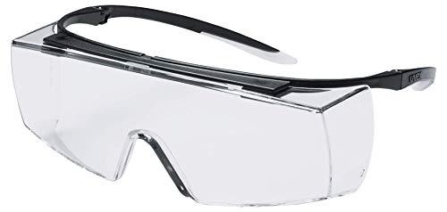 Uvex Super F OTG Schutzbrille - Supravision Sapphire - Transparent/Schwarz-Weiß