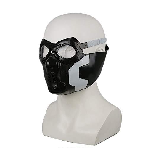 Henxizucun Halloween Maske Captain America Der Winter Soldat Maske Soldat Maske Cosplay Bucky Vollgesichts Cosplay Kostüm Erwachsene