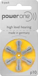 Power One Hearing Aid Battery Size 10 , 12 Pcs  available at amazon for Rs.290