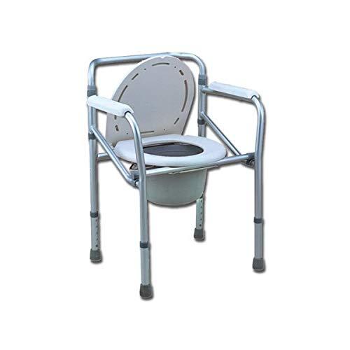 COMODA WC - sedia da comoda per WC o doccia, altezza regolabile 45-55cm