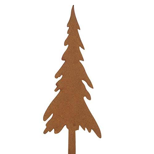 Florissima 8X rostige Tannenbaum Stecker 20cm Blumenkasten Adventskranz Weihnachten