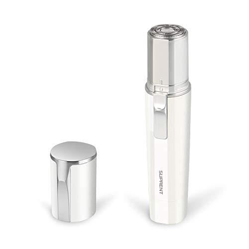 Gesichtshaarentferner für Frauen,Elektrorasierer Damen, Gesichtshaarentferner für Wangen, Lippen, Kinn und Hals, IPX7 wasserdicht, batteriebetrieben (mit 1 Batterie)