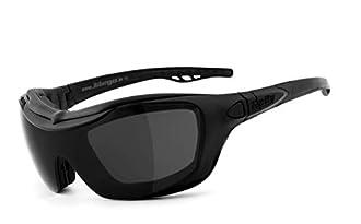 perfekt für Brillenträger Motorradbrille Toronto gelbe Gläser schwarz