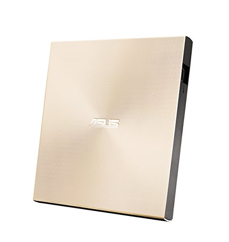 Asus ZenDrive U9M USB-C externer Ultra SLIM DVD Brenner (inkl. USB-C Kabel, Brennsoftware & Nero Backup App), für Apple MacBooks und Windows PCs/Notebooks, USB 2.0, gold Asus Dvd