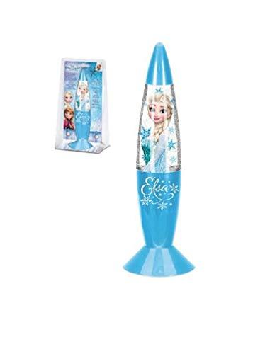 Eiskönigin Anna und Elsa Glitzer-Lampe mit Farbwechsel, Farbe:Blau ()