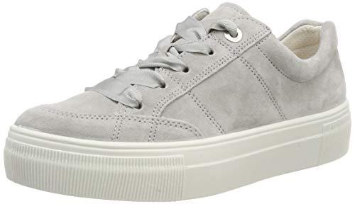 Legero Damen Lima Sneaker, Grau (Alluminio (Grey) 25), 37 EU - Damen Leder Halbschuhe Schuhe