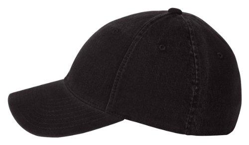 6997Flexfit Casquette profil bas Vêtement Lavable en Coton Noir - Noir