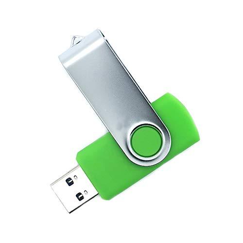 mAjglgE Drehbarer Deckel Hochgeschwindigkeits-USB-Flash-Laufwerk Memory Stick U-Diskette für Notebook-PC Green 64mb - 64 Mb Notebook
