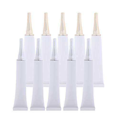 Baoblaze 10x Récipient à échantillons Tube vide pour lotion corps shampooing