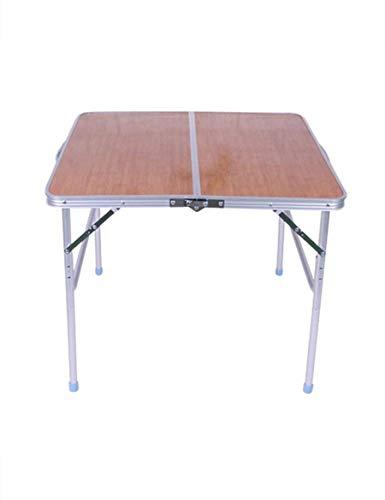 Deed tavolo-tavolo pieghevole in lega di alluminio pieghevole classico semplice tavolo da pranzo domestico tavolo da picnic salva spazio dormitorio studente facile letto pigro semplice casa